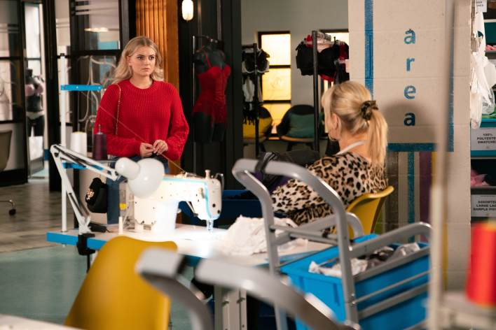 Bethany and Beth in the factory - Coronation Street - ITV