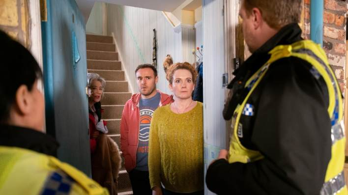 Evelyn, Tyrone and Fiz - Coronation Street - ITV