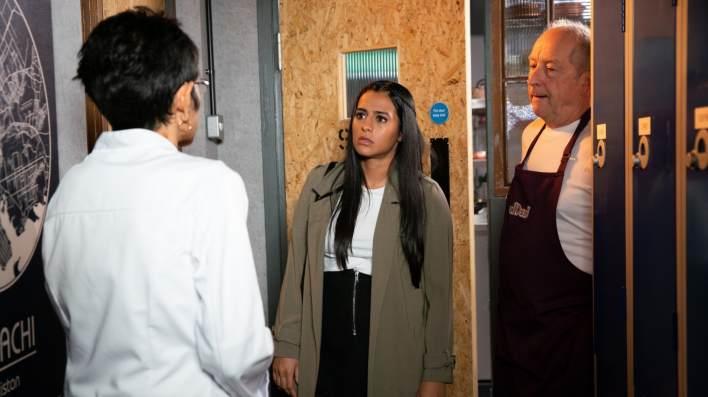 Yasmeen, Alya and Geoff - Coronation Street - ITV