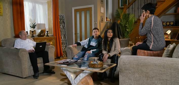 Geoff, Alya, Ryan and Yasmeen - Coronation Street - ITV