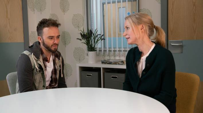 David and a doctor - Coronation Street - ITV