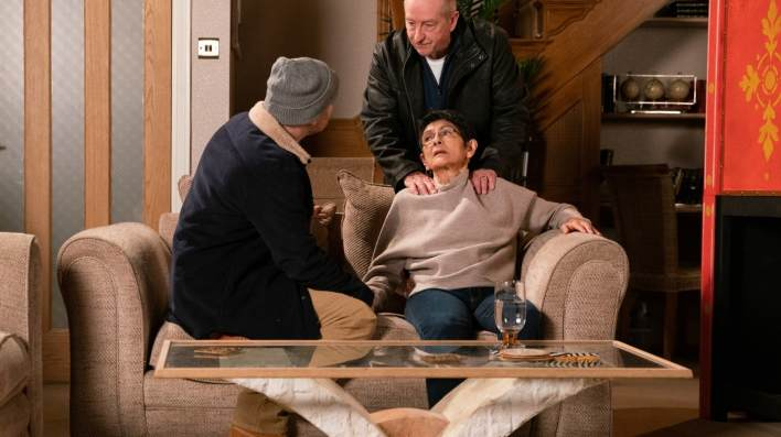 Geoff, Yasmeen and Tim - Coronation Street - ITV