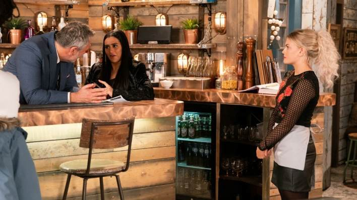 Ray, Alya and Bethany - Coronation Street - ITV