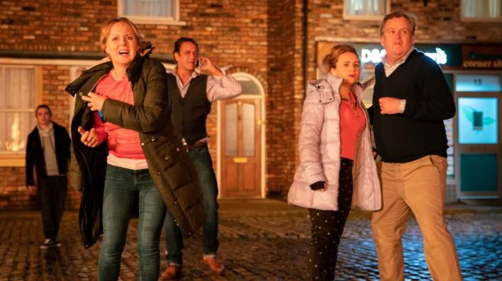 Sally, Dev, Gemma and Brian - Coronation Street - ITV