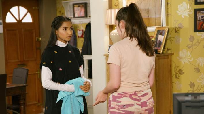 Asha and Amy - Coronation Street - ITV