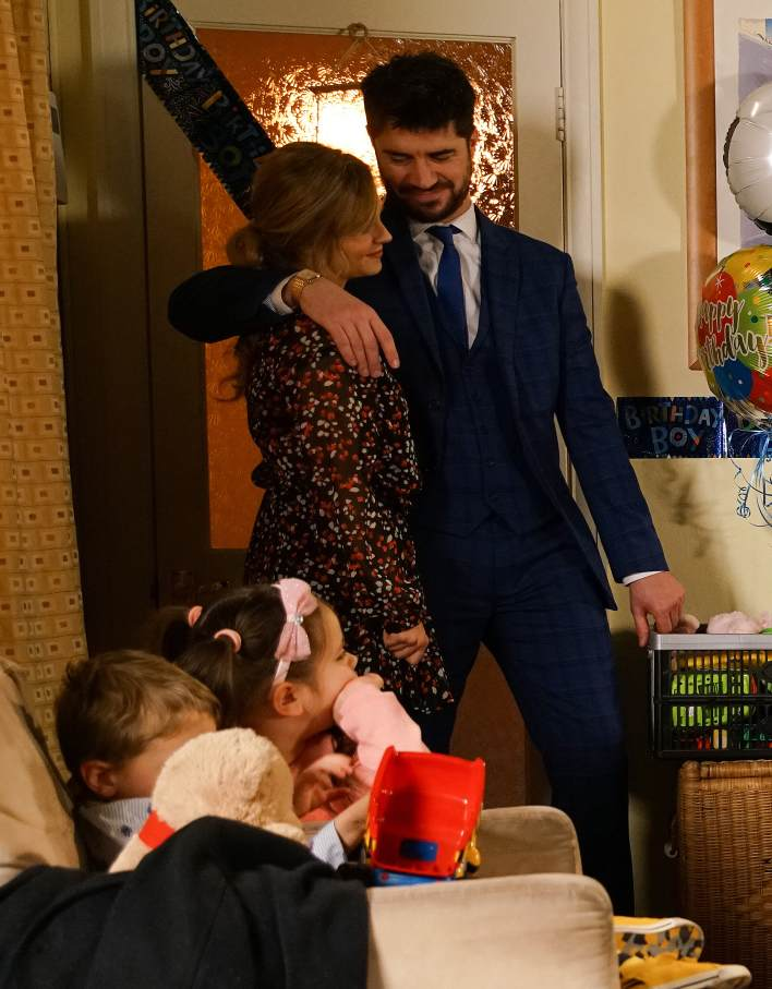 Adam and Sarah at the Platt's house - Coronation Street - ITV