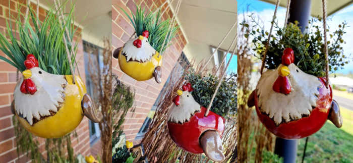 Flying Chook Planters