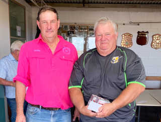 Geoffrey and Fred at Boorowa Gun Club's last shoot in February.