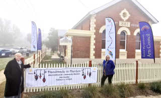 Ready for the markets at  the Old Murrumburrah Courthouse.