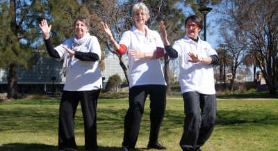 The trained Tai Chi leaders that will lead the sessions.