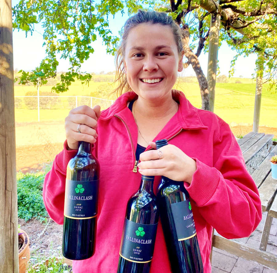 Maddy-Mullany-with-the-award-winning-wines.