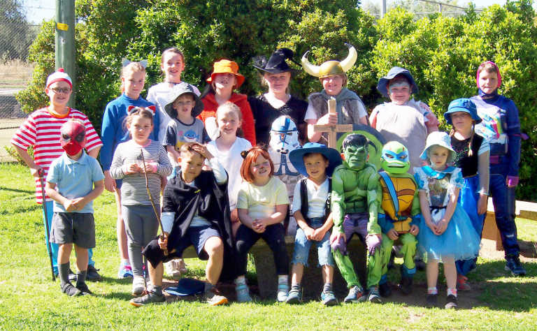 Monteagle School students dressed up as their favourite characters.