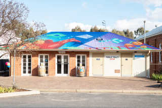 Mural at the Harden Murrumburrah Visitor Information Centre.