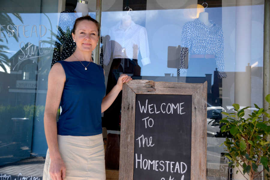 Owner of Botanica Romantica and The Homestead Style, Simone Ward, in front of her business, which is one of a massive 94 participants in this year's Hilltops Christmas Spending Spree.