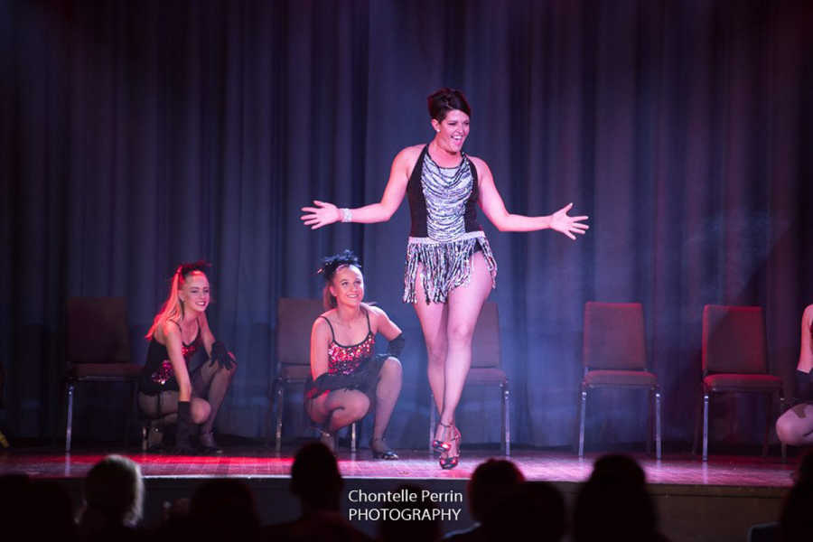 Melissa Anderson performing at Stars of Young, Dance for Cancer. Photo by Chontelle Perrin.