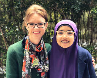 Steph Cooke MP with Regional Youth Taskforce member Khawlah Asmaa Albaf from Young.