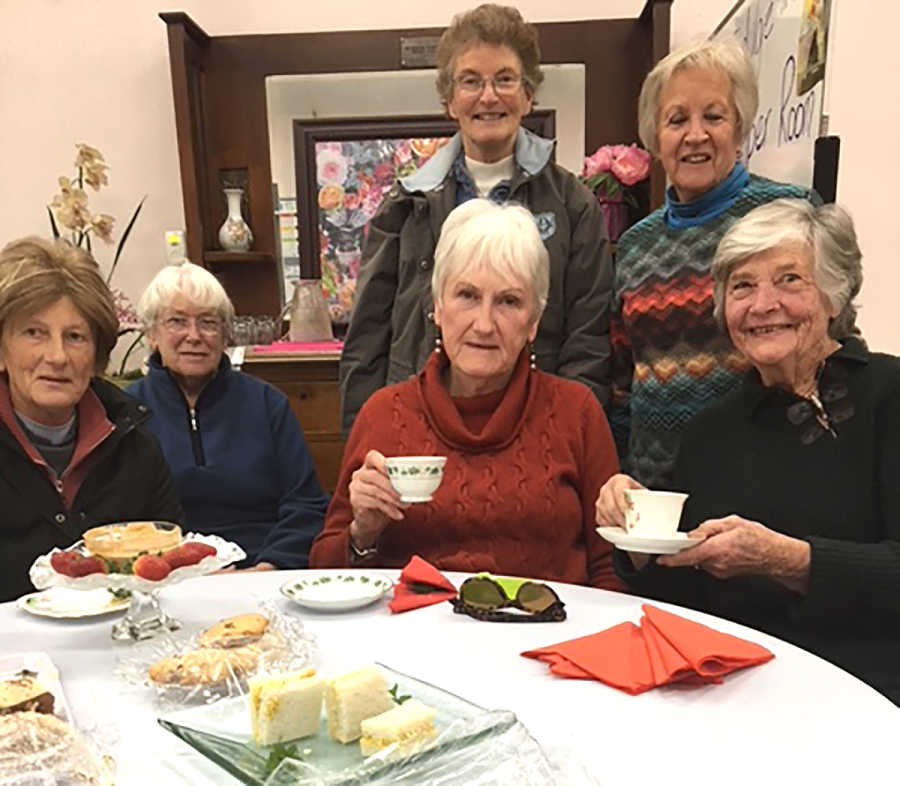 Gail Millynn, Robyn Shean, Janet Marchant, Jenny Carter, Glenys Dymock and Judy McGuiness at the last meeting.