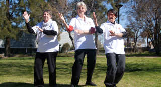 Tai Chi volunteers in Temora and Ariah Park (L-R) Janette Smith, Monica Reid and Barbara Weise.
