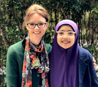 Member for Cootamundra Steph Cooke MP with Regional Youth Taskforce member Khawlah Asmaa Albaf.