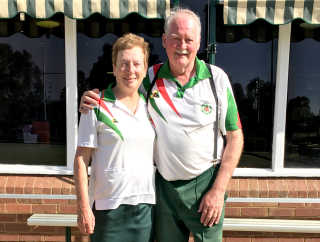 Club Mixed Pair Championship winners Judith and Terry Mulligan.