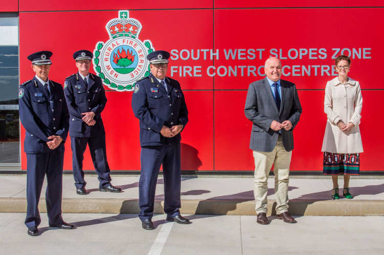Official opening of the South West Slopes Fire Control Centre.