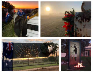 ANZAC Day commemorated in driveways across Hilltops