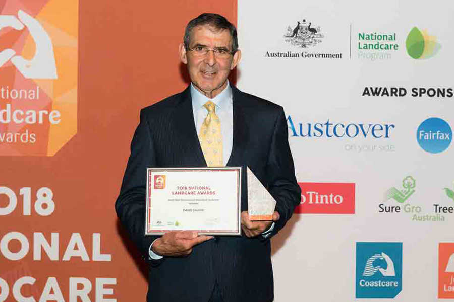 David Marsh with his award.