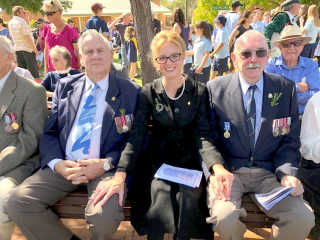 Steph Cooke MP with some veterans.