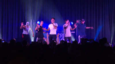 Justice crew performing in Young