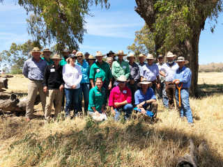 Members of the BCLG Regen Grazing Group on the recent-trip.
