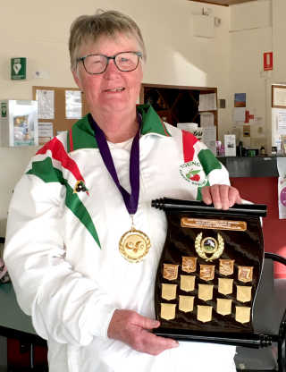 Ann Gardner, winner of the South West District Singles Championship.