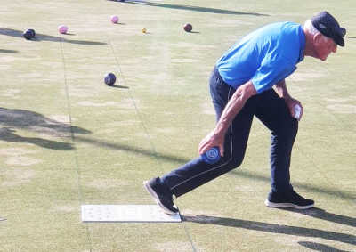 Jock Rogerson showing his classic style on Thursday afternoon.