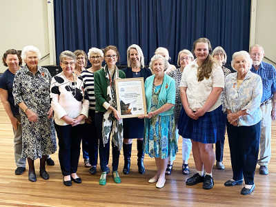 Member for Cootamundra, Steph Cooke, with the volunteers and recipients of the Return and Earn Litter Prevention Award.