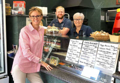 Member for Cootamundra Steph Cooke at the Cootamundra Butchery in March 2019.