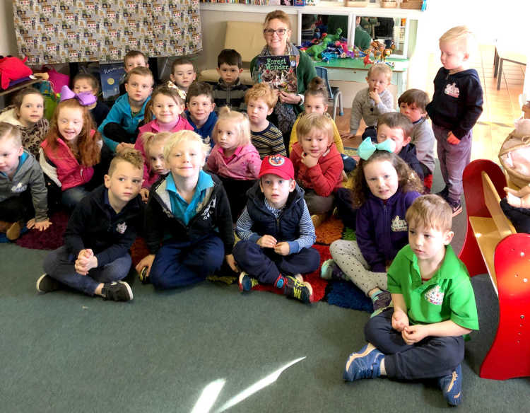 Member for Cootamundra Steph Cooke at a preschool in 2019.