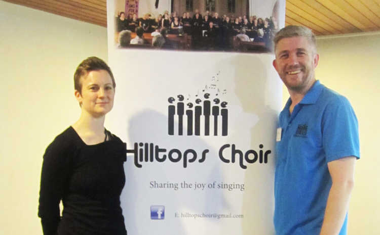 Dr Sarah Penicke Smith (Principal Conductor of the Macquarie Singers) with Rodney Clancy (Musical Director of the Hilltops Choir).