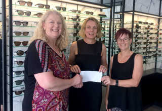 CEF Committee member Kym Steele, Young Eyes Owner Janine Hobson and CEF Committee member Linda O'Connor.