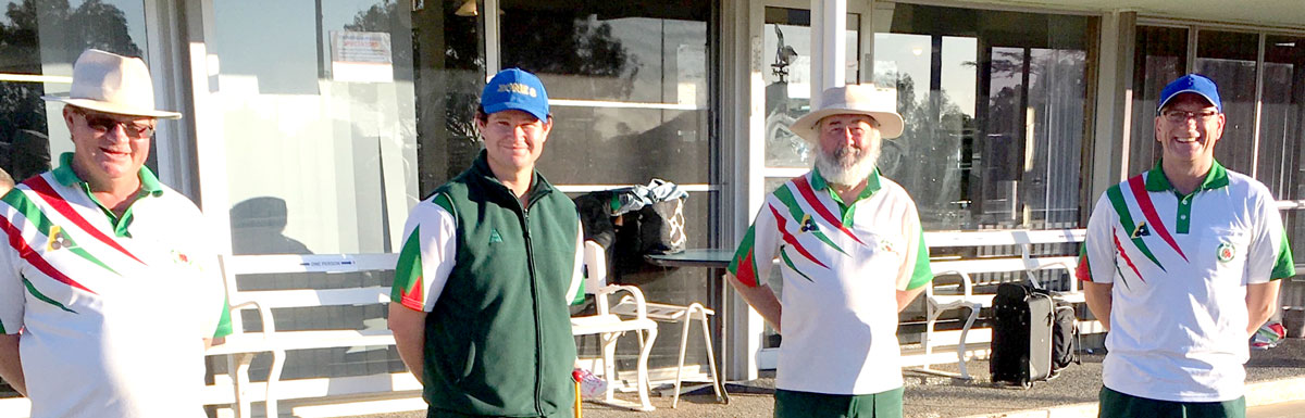 Club Pairs Finalists Stephen Walsh, Damien Miller, Colin Stokell and David Quigley.