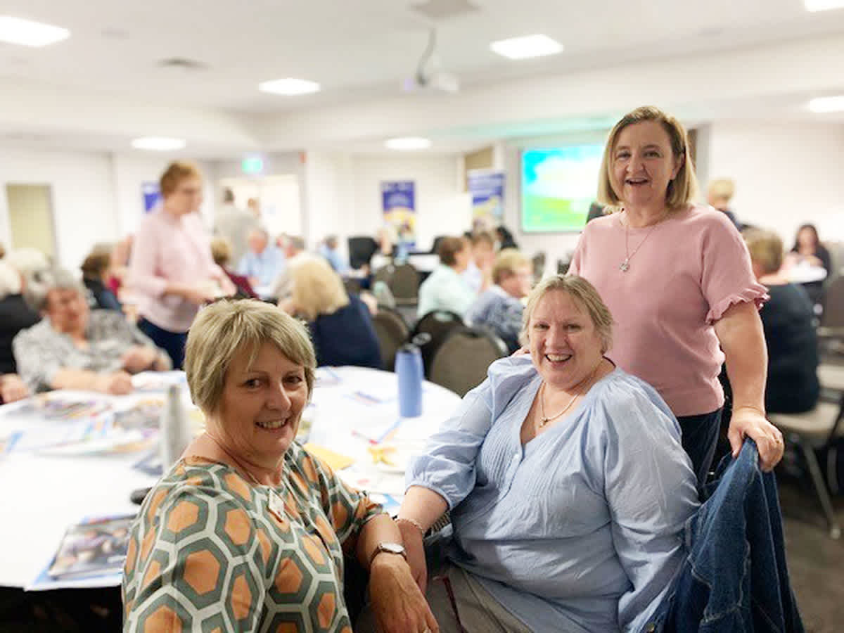 Kerry Menz Facility Manager – Murrumburrah-Harden MPS, Leah Whitehead from the Murrumburrah-Harden LHAC and Jo Garlick, Young Cluster Manager at last year's LHAC Regional Forum.
