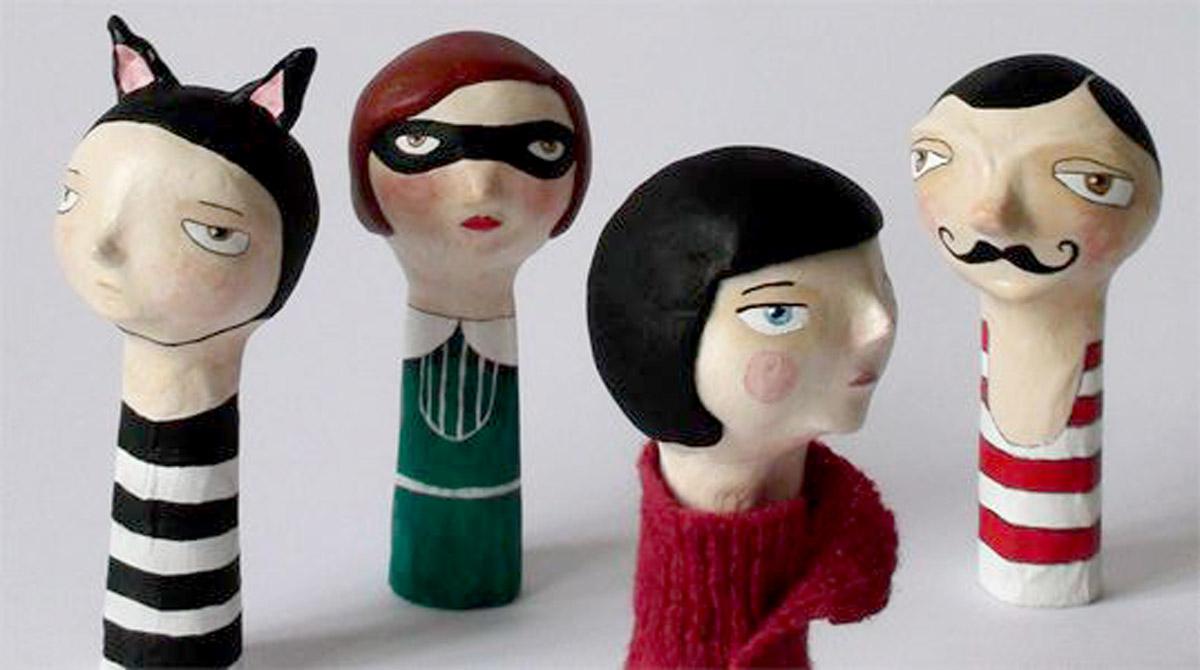 Paper-mache-puppets