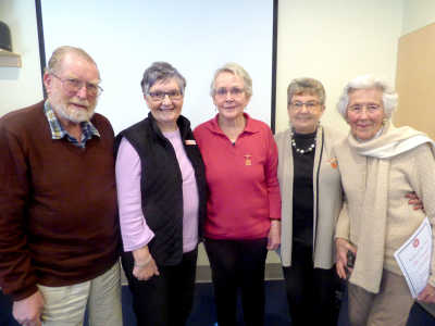 Awardees Frank, Chris, Lyn and Tilla with State President Linda Swales (2nd from left).