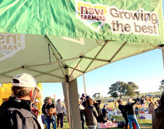 NSW Farmers tent at the Rugby Day.