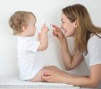 Gesichtspflege für das Baby