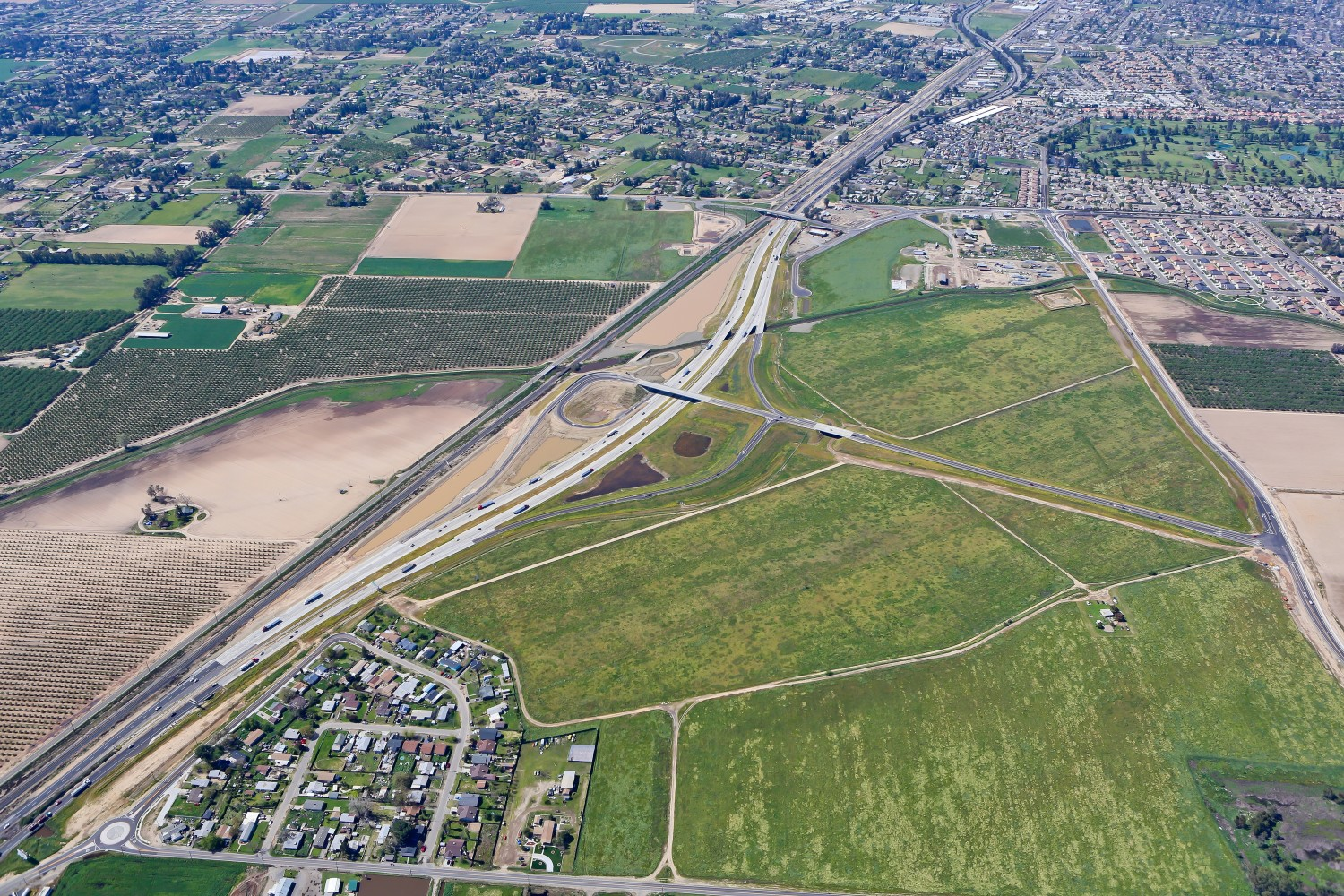 Highway 99 Realignment during construction