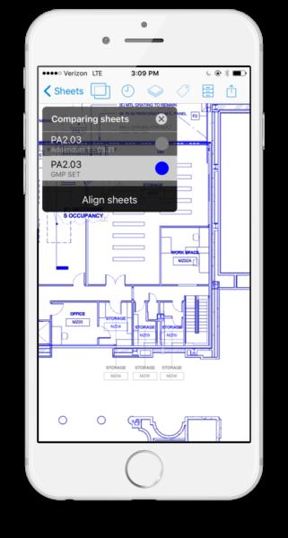 iOS phone sheet compare