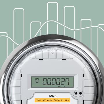 Stromzaehler mit Verbrauchsdiagramm