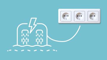 Wasserkraftwerk produziert Oekostrom