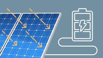 Photovoltaikanlage produziert Oekostrom