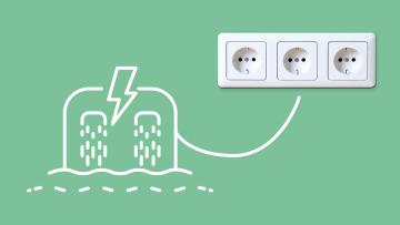 Wasserwerk erzeugt Strom