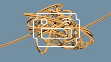 Schwarmbox vor verheddertem Knoten
